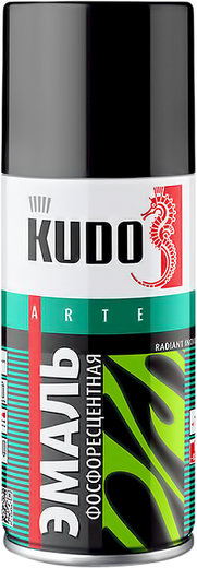 Kudo Arte Radiant Indication эмаль фосфоресцентная (210 мл) зелено-желтое свечение