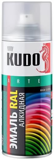 Kudo Arte High Gloss эмаль RAL алкидная универсальная (520 мл) белая