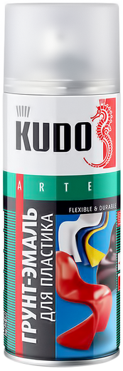 Kudo Arte Flexible & Durable грунт-эмаль для пластика (520 мл) серая
