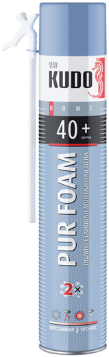 Kudo Home Pur Foam 40+ бытовая всесезонная монтажная пена (1000 мл) ручная