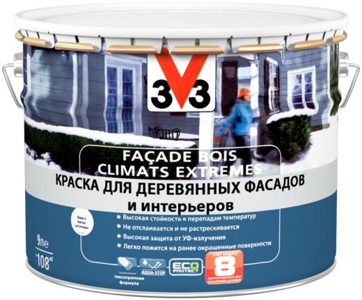 V33 Facade Bois Climats Extremes краска для деревянных фасадов и интерьеров (1 л) белая (база A)