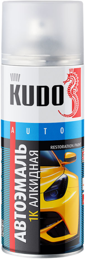 Kudo Auto Restoration Paint автоэмаль 1K алкидная (520 мл) белая Frozen White