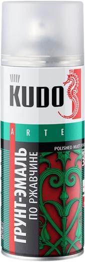 Kudo Arte Polished Matt Finish грунт-эмаль по ржавчине гладкая матовая (520 мл) сигнальная синяя