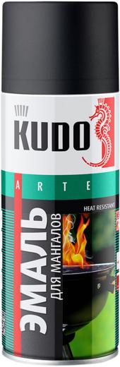 Kudo Arte Heat Resistant эмаль для мангалов термостойкая (520 мл) черная