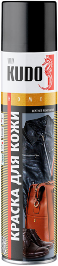 Kudo Home Leather Renovator краска для гладкой кожи (400 мл) черная