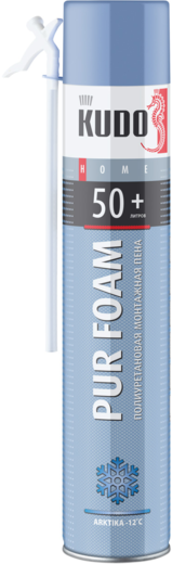 Kudo Home Pur Foam 50+ Arktika бытовая всесезонная монтажная пена (1000 мл) ручная