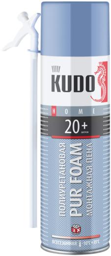 Kudo Home Pur Foam 20+ бытовая всесезонная монтажная пена (650 мл) ручная