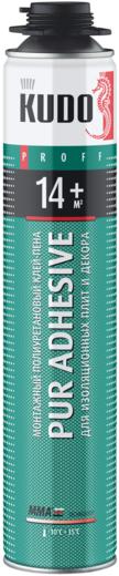 Kudo Proff Pur Adhesive 14+ монтажный полиуретановый клей-пена (1000 мл)