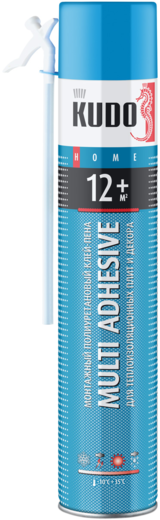 Kudo Home Multi Adhesive 12+ монтажный полиуретановый клей-пена для теплоизоляционных плит и декора