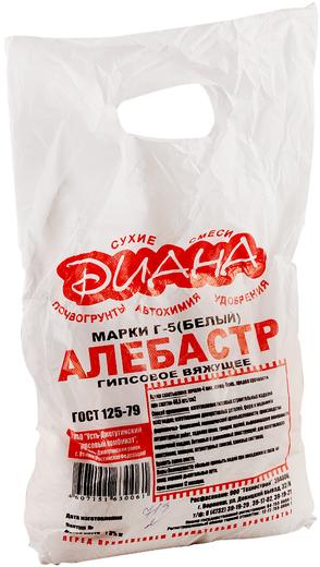 Диана Г-5 алебастр белый гипсовое вяжущее (5 кг)