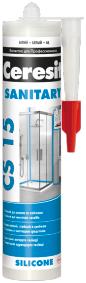 Ceresit CS 15 Sanitary сантехнический силиконовый герметик
