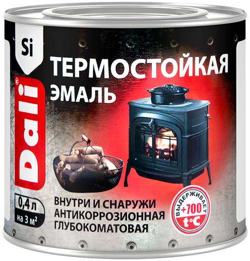 Dali эмаль термостойкая атмосферостойкая антикоррозионная (400 мл) черная