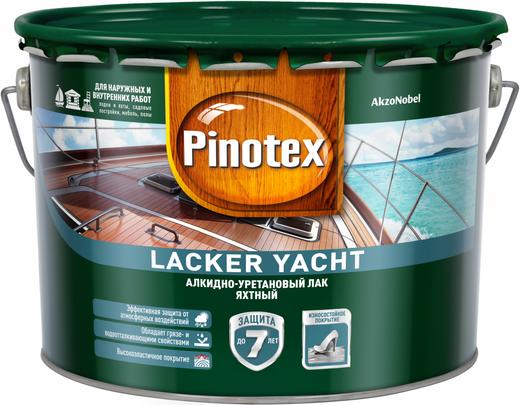 Пинотекс Lacker Yacht алкидно-уретановый лак яхтный (9 л) глянцевый