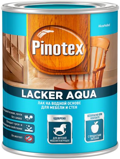 Пинотекс Lacker Aqua лак на водной основе для мебели и стен (2.7 л) глянцевый