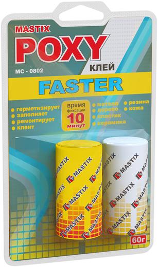 Mastix Poxy Faster эпоксидный клей ускоренный (40 г)