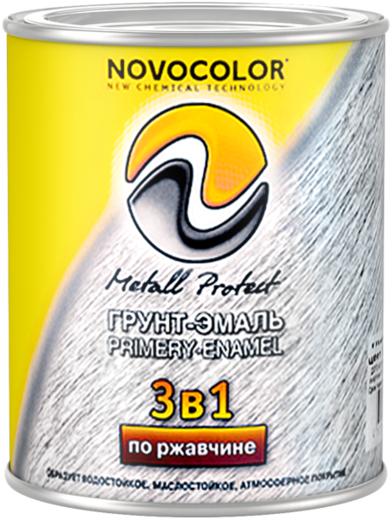 Новоколор Metall Protect грунт-эмаль по ржавчине 3 в 1 (20 кг) серая матовая