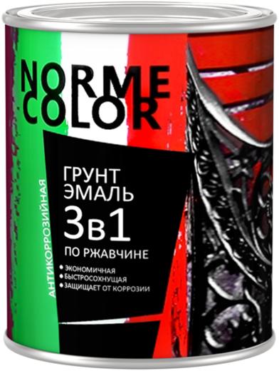 Norme Color грунт-эмаль по ржавчине 3 в 1 антикоррозийная (900 мл) белая