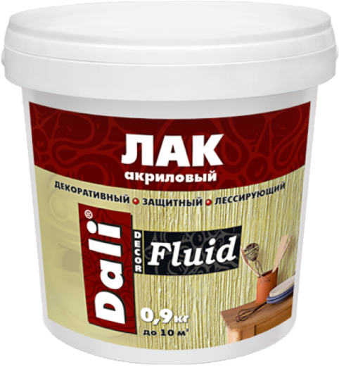 Dali Decor Fluid лак акриловый декоративный защитный лессирующий (900 мл)
