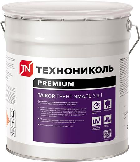Технониколь Taikor грунт-эмаль универсальная 3 в 1 (20 кг) серо-серебристая