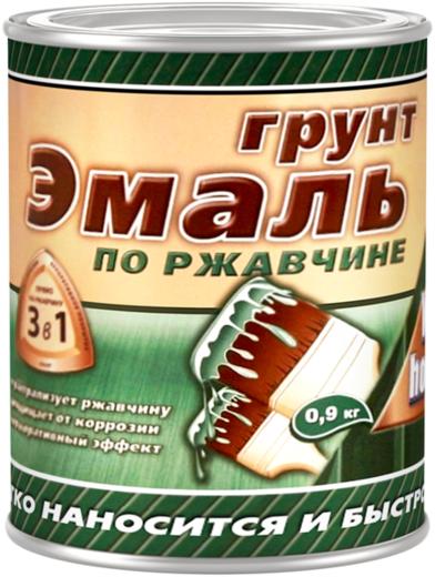 White House грунт-эмаль по ржавчине 3 в 1 (1.8 кг) молочный шоколад молотковая