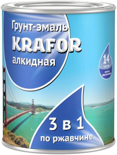 Крафор грунт-эмаль алкидная по ржавчине 3 в 1