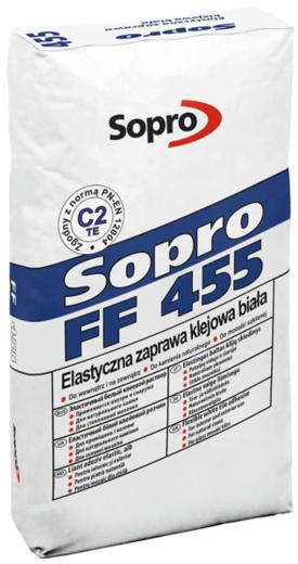 Sopro FF 455 эластичный белый клеевой раствор