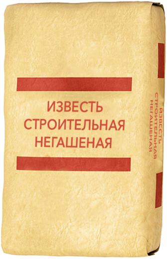 известь строительная негашеная (30 кг)