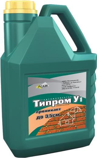 Типром У1 гидрофобизатор с характерным запахом растворителя (5 л)
