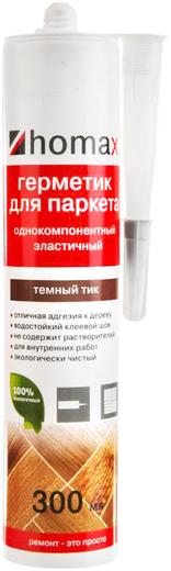 Homa Homax герметик для паркета однокомпонентный эластичный (300 мл) белый
