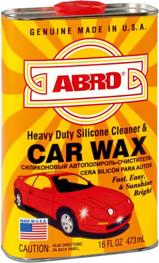 Abro Heavy Duty Silicone Cleaner & Car Wax силиконовый автополироль-очиститель автовоск (473 мл)