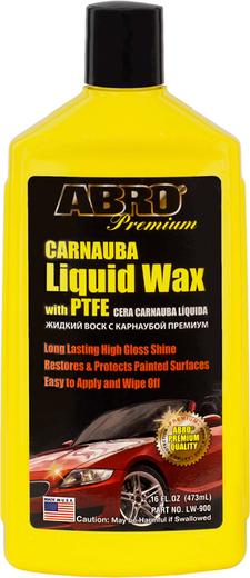 Abro Premium Carnauba Liquid Wax with PTFE (LW-900) жидкий воск с карнаубой премиум автовоск