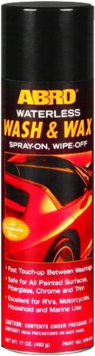 Abro Waterless Wash & Wax автовоск-спрей с карнаубой