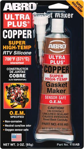 Abro Copper Super High-Temp Gasket Maker герметик прокладок медно-силиконовый бронзовый (85 г) медный