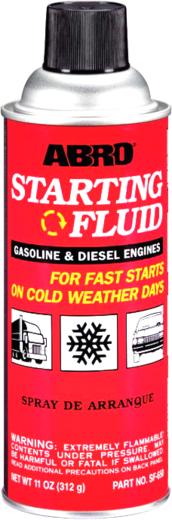 Abro Starting Fluid стартовая жидкость (312 мл)