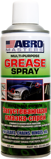Abro Masters Multi-Purpose Grease Spray загустевающая смазка-спрей (420 мл)