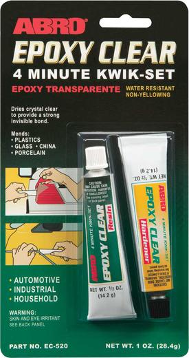 Abro Epoxy Clear 4 Minute Kwik-Set эпоксидный клей прозрачный авто