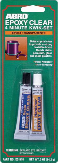Abro Epoxy Clear 4 Minute Kwik-Set прозрачный эпоксидный клей