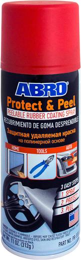 Abro Protect & Peel защитная удаляемая краска на полимерной основе жидкая резина (312 г) белая