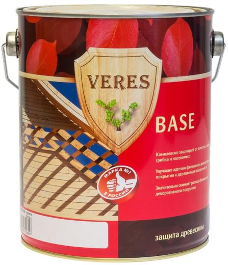 Veres Base бесцветная грунтовка по дереву для наружных работ (10 л) бесцветная