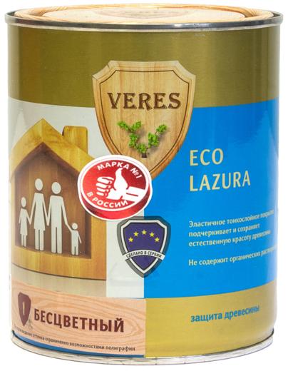 Veres Eco Lazura защита древесины (6 л) бесцветная