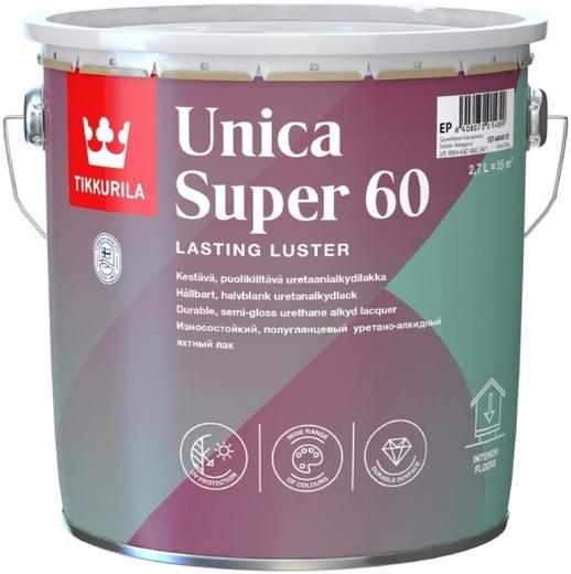 Тиккурила Уника Супер 60 износостойкий уретано-алкидный лак полуглянцевый универсальный