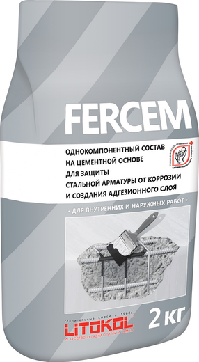 Fercem однокомпонентный на цементной основе для защиты стальной арматуры 25 кг