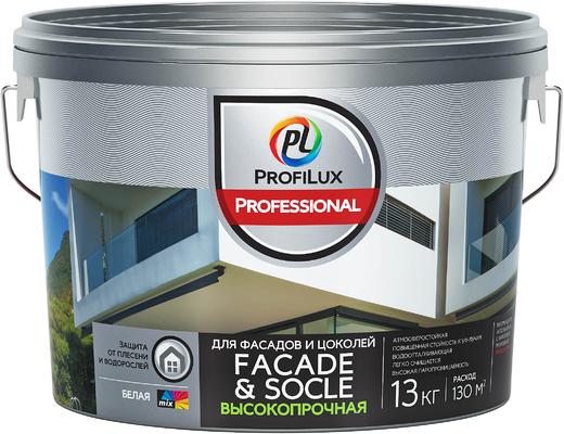 Профилюкс Facade & Socle краска акриловая для фасадов и цоколей (13 кг база 3)