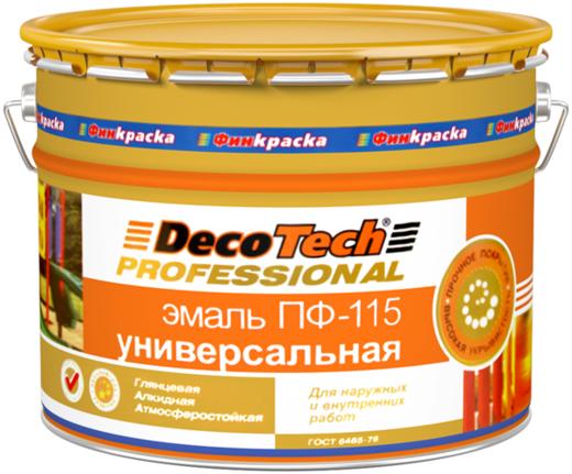 Decotech Professional ПФ-115 эмаль универсальная алкидная глянцевая атмосферостойкая (10 л) ярко-красная