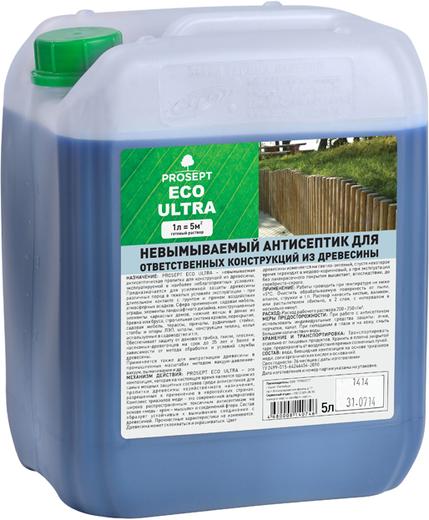 Просепт Eco Ultra невымываемый антисептик (5 л)