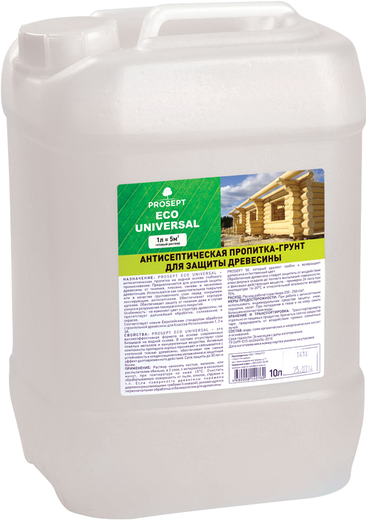 Просепт Eco Universal антисептическая пропитка-грунт для защиты древесины (10 л)