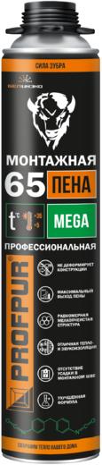 Profpur Mega полиуретановая монтажная пена (870 мл) пистолетная