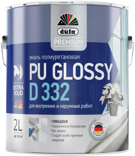 Dufa Premium PU Glossy D 332 эмаль полиуретановая для внутренних и наружных работ (2 л) белая