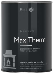 Elcon термостойкая эмаль (800 г) коричневая