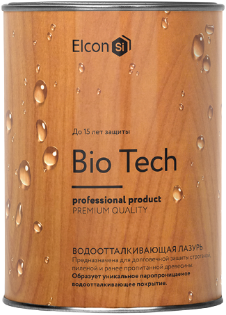 Elcon Bio водоотталкивающая лазурь (9 л) тик